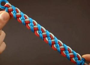 Плетение браслета из паракорда с кельтским узором