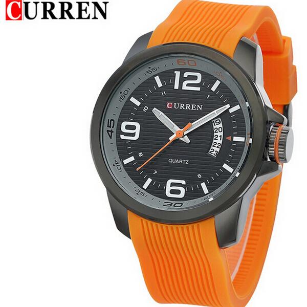 Часы Curren с силиконовым браслетом